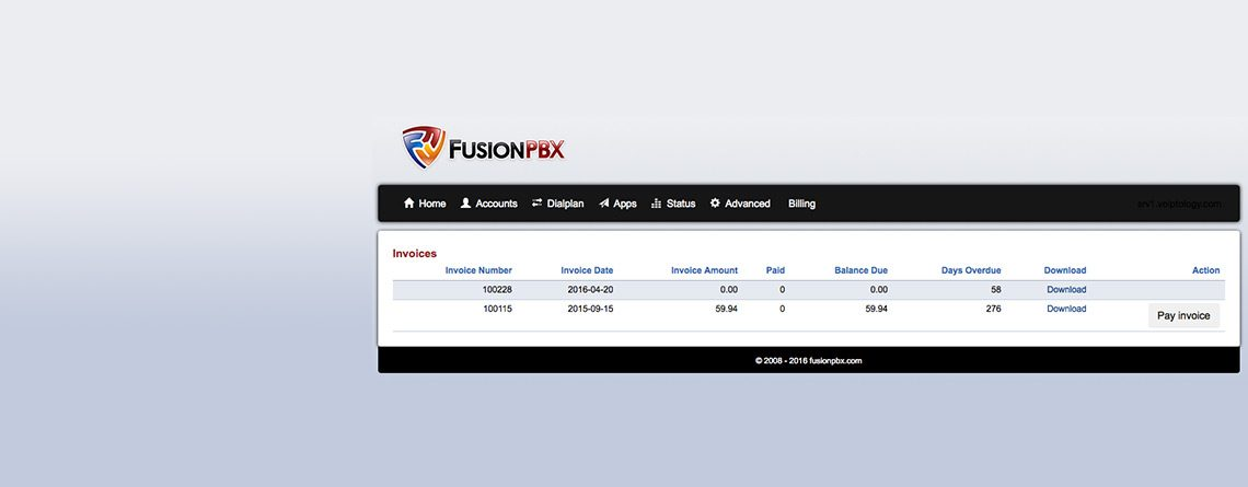 Integration with FusionPBX
